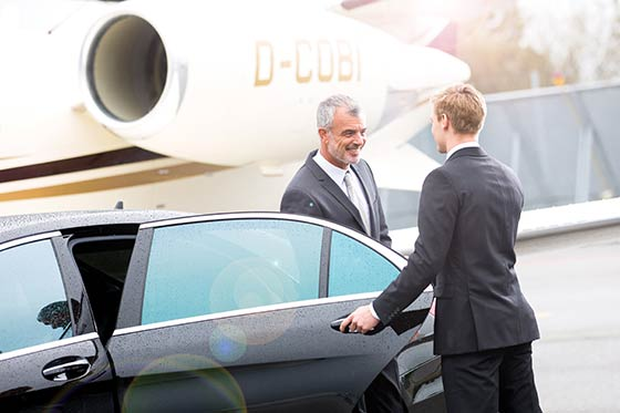 event service, transfers, chauffeur, gast