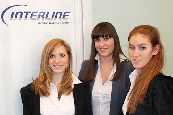 hostessen, frauen, interline, office