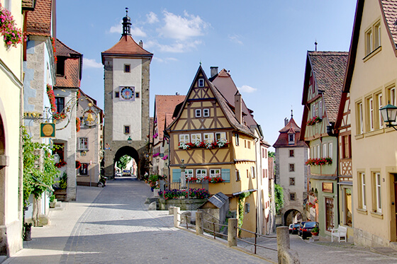 Sightseeing romantische strasse rothenburg