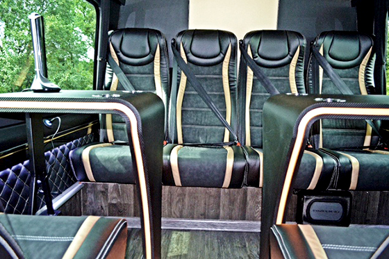 Bus, Mercedes-Benz VIP Sprinter, heckansicht
